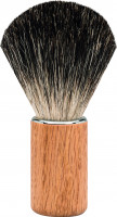 "Erbe Shaving Brush Badger Hair oak wood ""Premium Design BERLIN"""