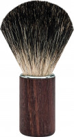 "Shaving brush with badger hair - walnut handle ""Premium Design BERLIN"""