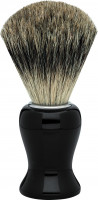 "Erbe shaving brush badger hair precious resin black ""Premium Design BARCELONA"""