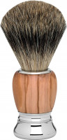 "Erbe Shaving Brush Silvertip Olive Wood ""Premium Design MILANO"""